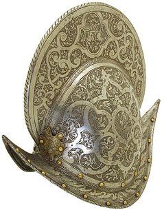 Morion (1580–90) Italy. Steel, copper; chasing, etching, engraving, gilding. The State Hermitage Museum: Exhibitions