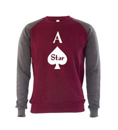 A star mens #sweatshirt #jumper poker player gambler ace gift for dad #boyfriend,  View more on the LINK: http://www.zeppy.io/product/gb/2/112267399106/