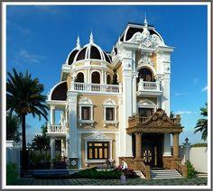 Mẫu nhà biệt thự đẹp kiến trúc Pháp