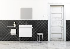 SINGLE VANITY UNIT WITH DRAWERS STRUCTURE COLLECTION BY INBANI | DESIGN ARIK LEVY