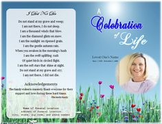 Dove Printable Funeral Card for Microsoft Word   Printable Funeral ...