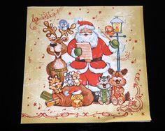 Set of 4 decoupage paper napkins Winter theme. by ramonaignat