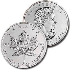 1 Oz .999 Silver Canadian Maple Leaf Coin 2010