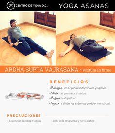 ARDHA SUPTA VAJRASANA · Postura en firme | Beneficios de la práctica de Yoga por Diego Cano