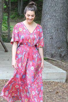 6057a22c30 Red Bird Loose Tassel Dress. Bohemian Gypsy