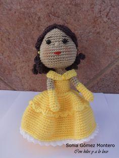 Princesa Bella Amigurumi - Patrón Gratis en Español aquí: http://ainoslabores.blogspot.co.il/2015/02/bella.html
