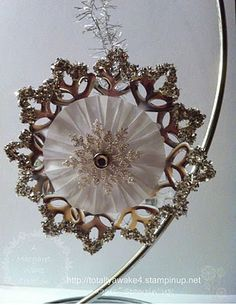 Snowflake ornament!