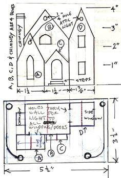 Wonderful instructions for original home made Christmas putz houses