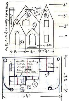 Rebuilding missing parts for old cardboard Christmas village putz houses.