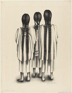 """""""Women of Oaxaca""""  Francisco Dosamentes (Mexican)"""