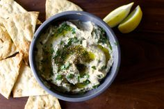 smoky eggplant dip [moutabbal or sometimes called baba ganoush] | smittenkitchen.com