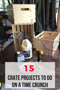 15 DIY Craft Projects for making everything from shelves to benches! Don't waste time on wood and nail projects. Try out these easy DIY crate projects instead! Diy Craft Projects, Home Projects, Projects To Try, Diy Crafts, Crate Crafts, Studio C, Crate Storage, Storage Ideas, Organization Ideas