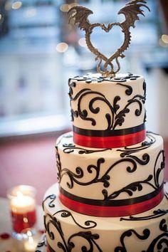 What an epic wedding cake!