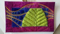 "Cindi Huss, ""Feymaker II"", 5"" x 8"", Extreme Quilting."