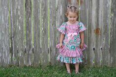 Girls Dress, vintage,