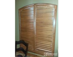 Stained Arch Shutters | Rockwood Shutters