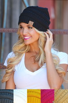 """Slouchy Knit Beanies from Closet Candy Boutique Use my discount code """"repheather"""" for 10% off plus free shipping."""