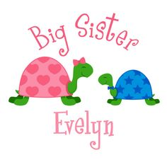 Adorable Big Sister Turtles Tshirt or by siblingspecialtees