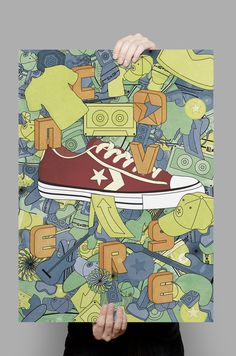 Advertising Campaign - Converse poster design by Alicia López, via Behance