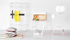 Teil der IKEA PS 2014 Kollektion in einem weißen Raum