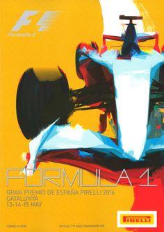 Formula One Spanish Gp 2016 Grand Prix, Mechanical Art, Racing Events, Car Illustration, Formulas, Car Posters, Automotive Art, Vintage Racing, Courses