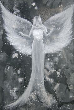 "Angel art photo ""power of love"", modern angel painting, contemporary artwork Art Blanc, Angel Drawing, I Believe In Angels, 1st Anniversary Gifts, Photo D Art, Picture Photo, Angel Pictures, The Power Of Love, Art Of Love"