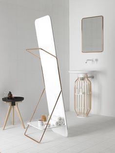 Freestanding #bathroom #mirror BOWL by INBANI | #design Arik Levy @inbani