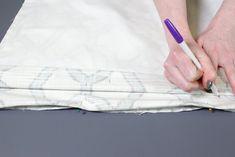 How to Make a Roman Shade | OFS Maker's Mill Fabric Glue, Lining Fabric, Blind Hem Stitch, Roman Shade Tutorial, Cordless Roman Shades, Custom Roman Shades, Invisible Stitch, Stitch Witchery, Thing 1