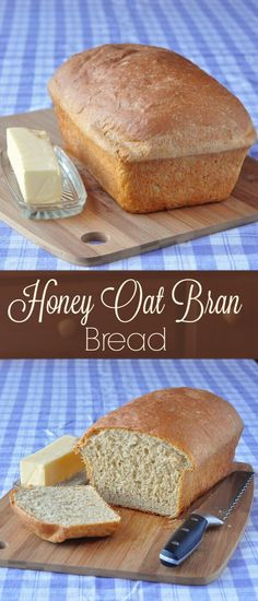 Honey Oat Bran Bread - a delicious home-made bread lightly sweetened with honey and with the wholesome flavour of oats; makes a terrific sandwich loaf.