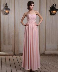 <3 Pink Ruffles Evening Dress