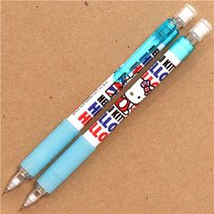 cute blue Hello Kitty with England flag mechanical pencil