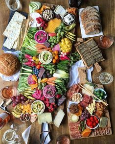 "overboard on the appetizer . ""for Thanksgiving just do one or two small, light appetizers so people don't get too full before dinner"" . charcrudité boards with something for everyone fruit vege nuts cheese cured meats bread gluten-free crackers and even chocolate up on TheDeliciousLife.com this week...."