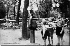 German children play in Ashmann Park, Koenigsberg in 1937. Eight years later it was no longer their home.