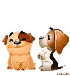 Dog Chummy chum chums gif - My best shares Animated Emoticons, Animated Gif, Abrazo Gif, Love Heart Gif, Gif Mignon, Gif Lindos, Funny Animals, Cute Animals, Emoji Love