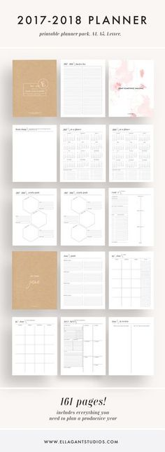 This is such a fun and easy way to set goals for 2017 - This planner comes with monthly calendars weekly planners goal worksheets yearly planners & more!