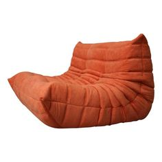 Certified Ligne Roset Togo Loveseat In Durable Mandarin Fabric, Diamond Quality Vintage Sofa, French Vintage, Buy Sofa, Ligne Roset, Sofa Shop, Orange Fabric, Settee, Modern Chairs, Floor Chair