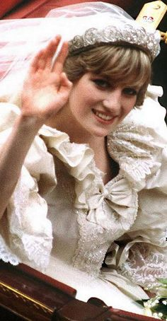 Photo of Diana On Her Wedding Day Back In 1981
