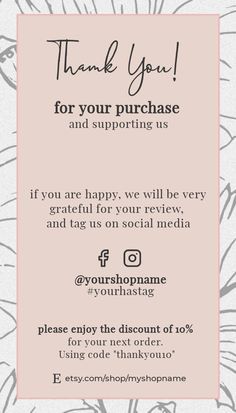Small Business Plan, Small Business Marketing, Business Tips, Small Business Quotes, Business Branding, Business Card Design, Thank You Card Design, Thank You Card Template, Business Thank You Cards