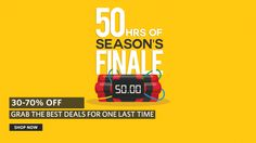Myntra 50 Hr Season Finale Sale Offer : Get 30-40% Off on All Fashion Products