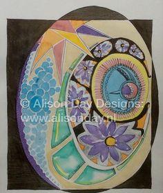 FAB Egg By Alison Day: www.alisonday.nl       #PaintingSeptember #Paintseptember
