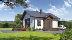 DOM.PL™ - Projekt domu DP miłków mały CE - DOM PK6-92 - gotowy projekt domu