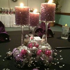 New Year / Christmas candle holders DIY