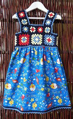 Ravelry: Nymistra's granny square crochet dress