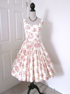 Rose Vintage Style Tea Dress Fabulously Feminine. $189.00, via Etsy.