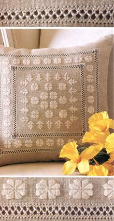 ru / Фото - 24 - aneri -wow, so pretty! Chart provided on site. Types Of Embroidery, White Embroidery, Diy Embroidery, Cross Stitch Embroidery, Embroidery Patterns, Drawn Thread, Hardanger Embroidery, Sewing Art, Cross Stitching