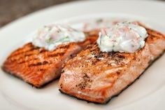 Salmon is a healthy choice for diabetics, so DiabeticLifestyle has many salmon recipes. This diabetic recipe for grilled salmon steaks with tarragon sauce is an easy recipe for people with type 1 diabetes or type 2 diabetes.