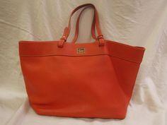 DOONEY & BOURKE PEBBLED LEATHER Large Shopper Tote Shoulder Bag Rust Orange  #DooneyBourke #TotesShoppers