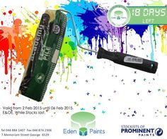 18 days left of our 21st birthday countdown and we have incredible specials! Like this #Academy Eazipile Roller Refill for only R 22,00. Offer valid from the 2nd - 6th of Feb, while stocks last, E&OE. Don't miss out! #EdenPaints #21birthdaypromo Birthday Countdown, Day Left, 21st Birthday, The Incredibles, Painting, Art, Art Background, Painting Art, Kunst