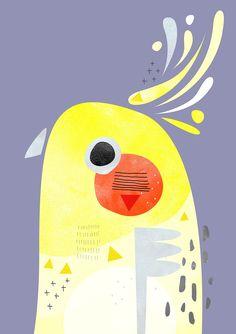 Guache, Bird Illustration, Mellow Yellow, Art Plastique, Types Of Art, Bird Art, Art Inspo, Collage Art, Art Lessons