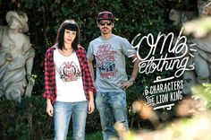 Ohmyboot Clothing - Lookbook 2015 - 6Characters & Lion King Tshirts